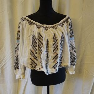 Free people gauze top